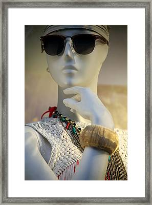 Is This Who I Am Framed Print by Jez C Self
