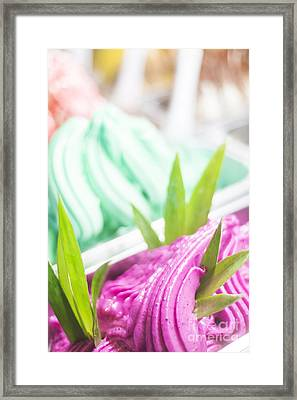 Italian Gelatto Ice Cream Framed Print by Jacek Malipan