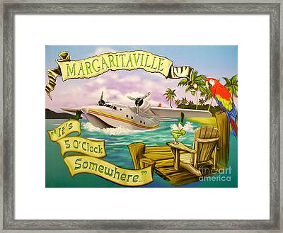 It's 5 O'clock Somewhere Framed Print by Desiderata Gallery