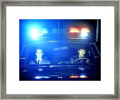 Its Either Joey Or James Hurley Framed Print by Luis Ludzska