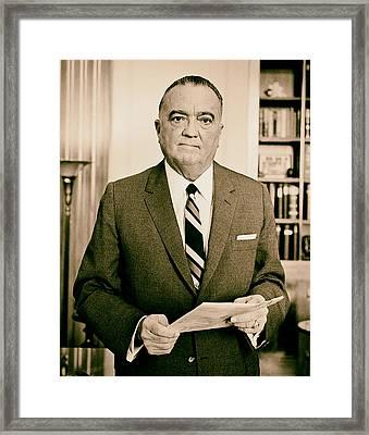 J Edgar Hoover - Director Of The Fbi 1961  Framed Print by Mountain Dreams