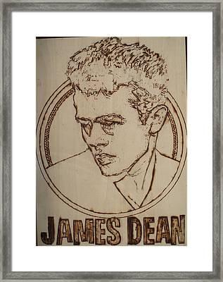 James Dean Framed Print by Sean Connolly