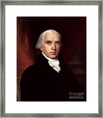 James Madison Framed Print by John Vanderlyn