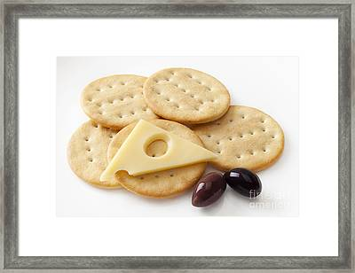 Jarlsberg Cheese And Crackers Framed Print by Colin and Linda McKie