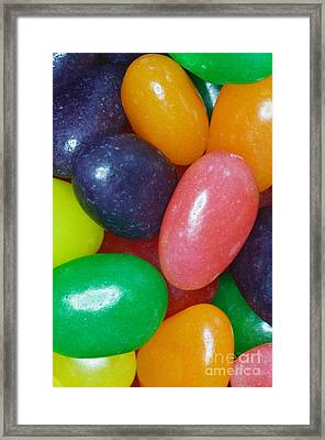 Jelly Beans Framed Print by Photo Researchers, Inc.