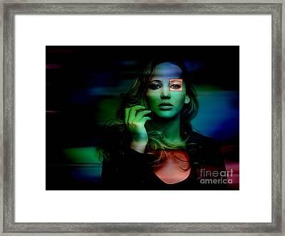 Jennifer Lawrence Framed Print by Marvin Blaine