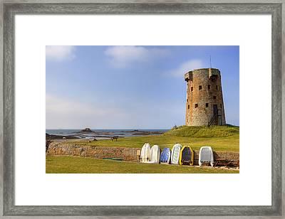 Jersey - Le Hocq Framed Print by Joana Kruse