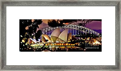 Jewel Of The Harbour Framed Print by Az Jackson