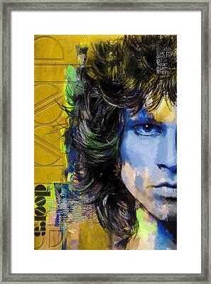 Jim Morrison Framed Print by Corporate Art Task Force