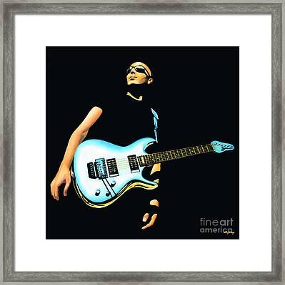 Joe Satriani Painting Framed Print by Paul Meijering