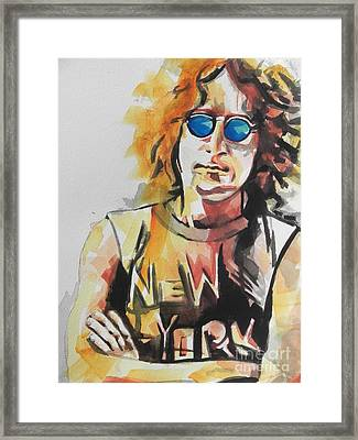 John Lennon 04 Framed Print by Chrisann Ellis