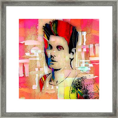 John Mayer Collection Framed Print by Marvin Blaine