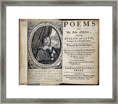 John Milton Framed Print by British Library