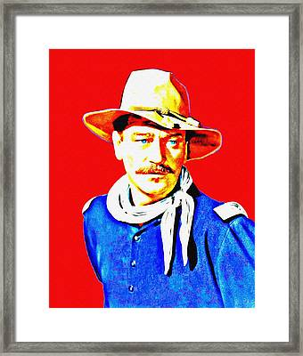 John Wayne In Rio Grande Framed Print by Art Cinema Gallery