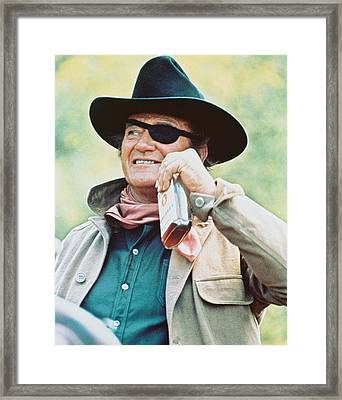 John Wayne In True Grit  Framed Print by Silver Screen
