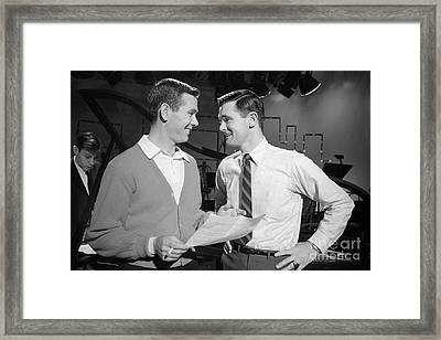 Johnny Carson With His Brother Dick Carson 1963 Framed Print by The Harrington Collection