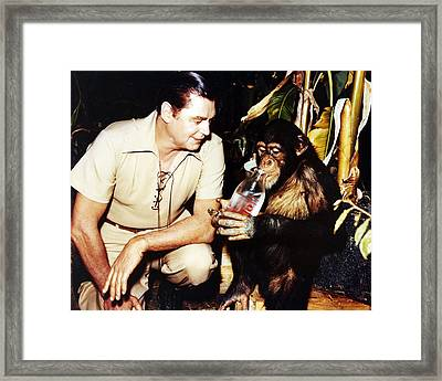Johnny Weissmuller In Jungle Jim  Framed Print by Silver Screen