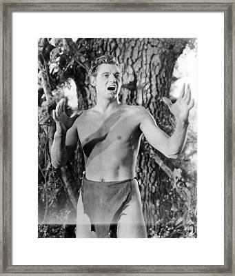 Johnny Weissmuller In Tarzan And His Mate  Framed Print by Silver Screen