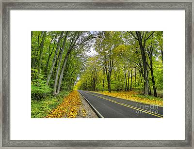 Joyfield Road In Arcadia Framed Print by Twenty Two North Photography