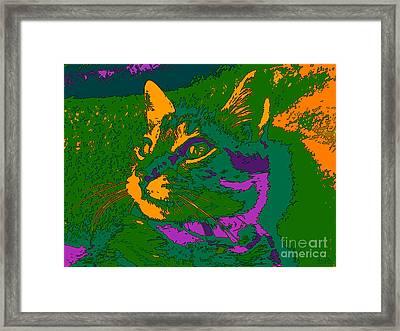 Jungle Cat Framed Print by Hanza Turgul