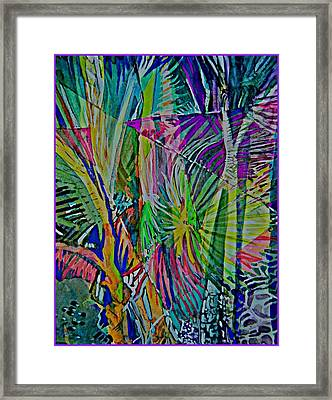 Jungle Lights Framed Print by Mindy Newman