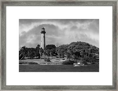 Jupiter Lighthouse Framed Print by Laura Fasulo