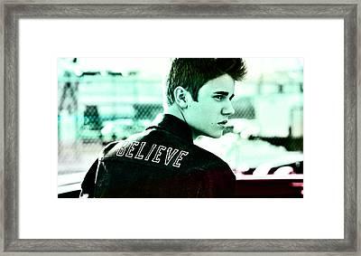 Justin Bieber  Framed Print by Marvin Blaine