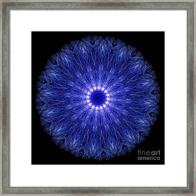 Kaleidoscopic Image Created From Real Electrical Arcs Framed Print by Amy Cicconi
