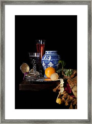 Kalf - Still Life With A Chinese Porcelain Jar  Framed Print by Levin Rodriguez