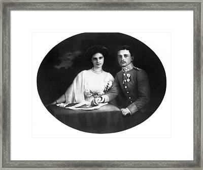 Karl I Of Austria (1887-1922) Framed Print by Granger