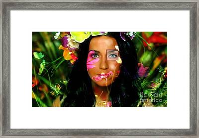 Katy Perry  Framed Print by Marvin Blaine