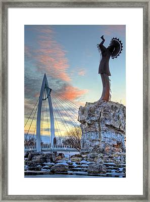 Keeper Of The Plains Framed Print by JC Findley