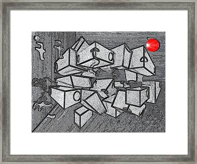 #1 Keeping It Together Alteration Framed Print by George Curington