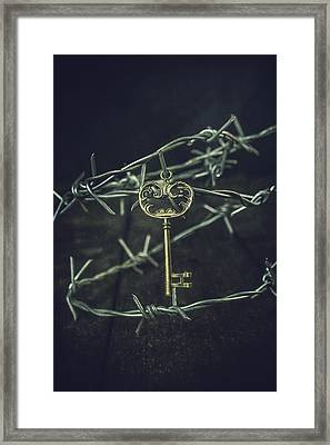 Key Of A Treasure Chest Framed Print by Joana Kruse