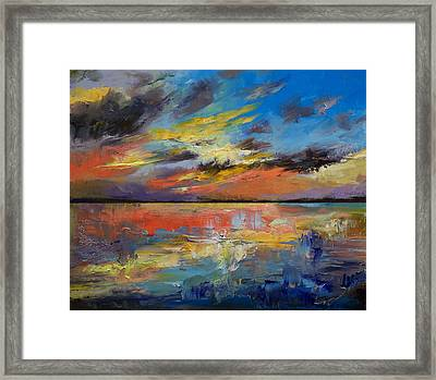Key West Florida Sunset Framed Print by Michael Creese