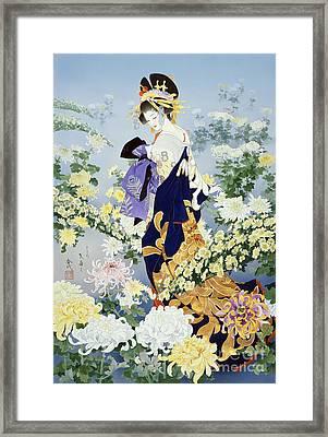 Kiku Framed Print by Haruyo Morita