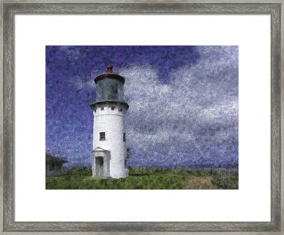 Kilauea Lighthouse Framed Print by Renee Skiba