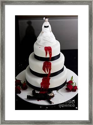 Killer Bride Wedding Cake Framed Print by Jorgo Photography - Wall Art Gallery