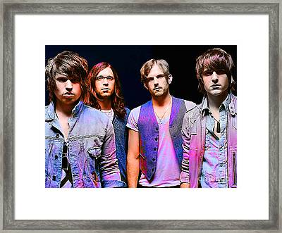Kings Of Leon Framed Print by Marvin Blaine