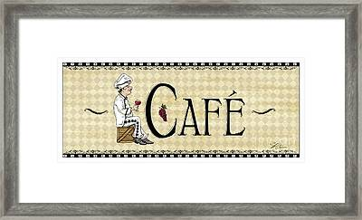 Kitchen Sign-cafe Framed Print by Shari Warren