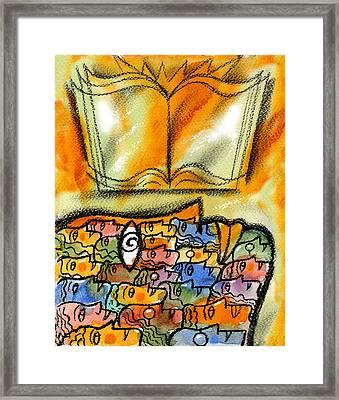 Knowledge Framed Print by Leon Zernitsky