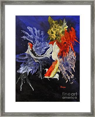 Koi Framed Print by Sharon Burger
