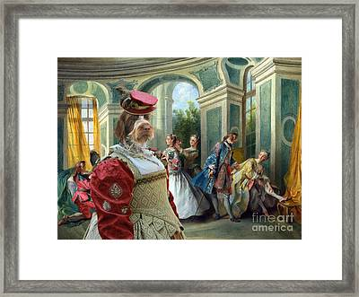 Korthals Pointing Griffon Art Canvas Print  Framed Print by Sandra Sij
