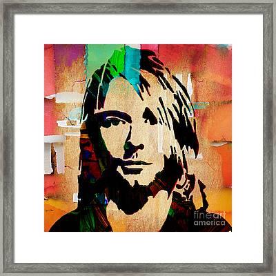 Kurt Cobain Nirvana Collection Framed Print by Marvin Blaine