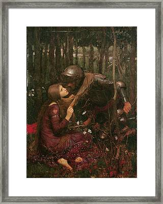 La Belle Dame Sans Merci Framed Print by John William Waterhouse