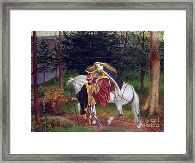 La Belle Dame Sans Merci Framed Print by Walter Crane