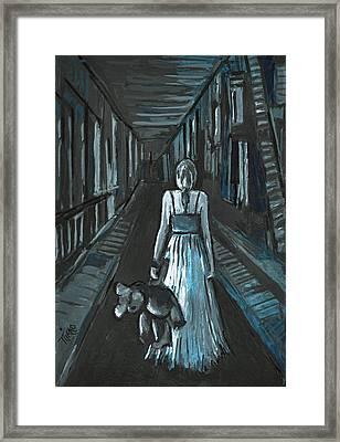 La Fille Au Bout Du Tunnel Framed Print by Mirko Gallery