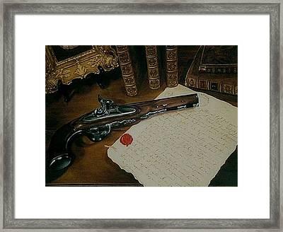 La Lettre Framed Print by Guillaume Bruno