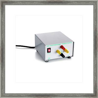 Laboratory Ac Dc Power Supply Framed Print by Science Photo Library