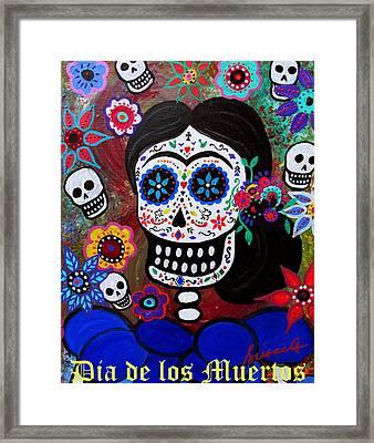 Lady Frida Framed Print by Pristine Cartera Turkus